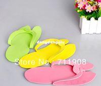 Wholesale Pairs Multi Colors Disposable Pedicure Foam Slippers Flip Flop Thong Beauty For Nail Art Salon
