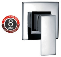Wholesale Solid Brass Chrome Square Wall Mount Shower Mixer Faucet Control Valve Trim Shower Kits