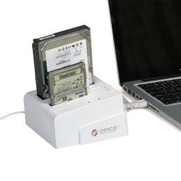 Wholesale ORICO SUSC USB eSATA to Dual HDD inch SATA Hard Drive Docking Station Support HD Offline Press Clone