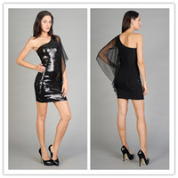 Cheap Reference Images Black Cocktail Party Dresses Best Chiffon Sequin Sequined Cocktail Party Dresses