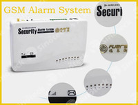 Wholesale Home Security Wireless GSM Voice Alarm System Intelligent Intercom Wired Alarms With Setting Arm Disarm Auto Dialing Free DHL Factory