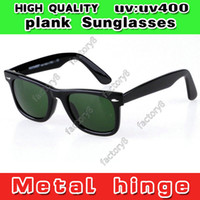 Wholesale New UV400 protection High Quality Plank black Sunglasses glass Lens black Sunglasses beach Sunglasses Men Women brand UV rotection polaroid