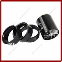 Handlebars D5144 Air Intakes Free Shipping F1-Z Double Supercharger Universal Turbine Turb Air Intake Fuel Gas Saver Fan Black