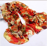 Scarves Yes Print 2013 New style colorful wagon silk feeling chiffon velvet scarf on wholesale WJ-027