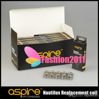 Wholesale 100 Original Aspire Dual Coil Aspire Nautilus Coil Heads For Aspire Nautilus Atomizer ohm and ohm can option
