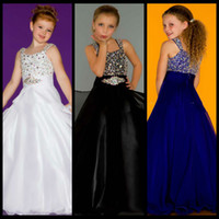 ball array - Royal Blue Straps Array of Chunky Rhinestones Flower Girl Dresses Covered Bodice Flowing Chiffon Junior Little Girls Beauty Pageant Dress