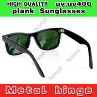 Wholesale New UV400 Protection High Quality Plank Sunglasses mirror polarized Lens black beach brand UV protection men women designer sun glasses