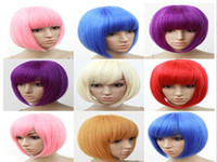 purple Short Boy 7colors synthetic heat resistance fiber cosplay wig party wig