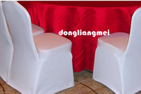 Wholesale chair covers pc White High Quality Polyester Wedding banquet meeting party restaurant hotel Chair decorations Covers pc Z313