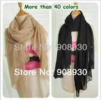 Wholesale pieces Women Maxi Plain Hijab Scarf Shawl muslim scarf Female Solid Scarves Design Accessories Wholesaler