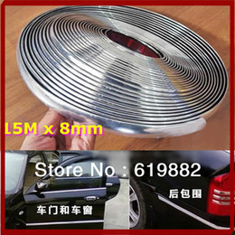 Chrome DIY Moulding Trim Strip For Car Auto Door Window Bumper Grille Protector Silver 15M 8mm Hot Sale