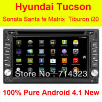 Hyundai GPS Navigation Android 4.1 3D Ma In-Dash Extrons Android 4.1 3G WiFi Car GPS DVD Player Hyundai Santa Fe Tucson Sonata Elantra Getz Matrix Tiburon I20 Lavita Capacitive Option