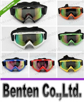 Wholesale WHITE Flexible Goggles Tinted UV Motorcycle Motocross Bike Cross Country GOGGLES LLFA6136