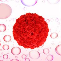 hot pink rose pomander balls