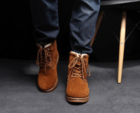 Wholesale 2013 Men s Winter Warm Casual Boots Warm Snow Boots Use Shoelace Ankle Boots