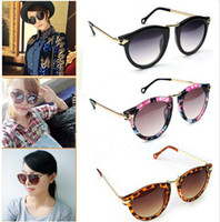 Women's Unisex Sunglasses Arrow Style Eyewear Round Metal Fr...