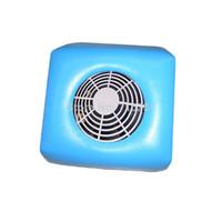Wholesale Blue Mini Size Nail Art Dust Suction Collector Machine Vacuum Cleaner Color Optional V