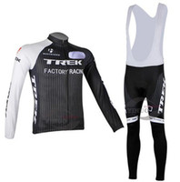 Wholesale New Arrival TREK Cycling Jersey Long sleeve and bicycle bib Pants ropa ciclismo clothing MTB