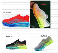 Wholesale Perfect running shoes block colors Flyknit vamp Built in cushion women and men sizes