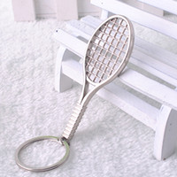 Wholesale NEW novel Car key Chain tennis racket Stainless alloy steel Key Chain High Quality keychains best gift key ring