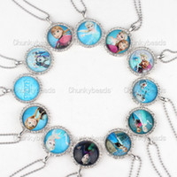 Cheap Pendant Necklaces Charm Ball Chain Necklace Best Frozen Ball Chain Necklace Children's Frozen Pendant Necklace