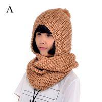 Wholesale 2014 fashion hood scarf wool scarf