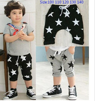 Casual Pants Unisex Spring / Autumn 2013 Summer Baby Children Shorts Boys Star Printed Shorts Harem Pants Kids Clothing
