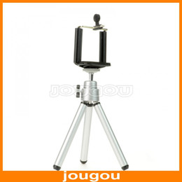 Wholesale Mini Tripod Stand Holder For Mobile Cell Phone Camera iPhone g G Samsung Galaxy S2 S4 i9200 I9500