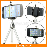 aluminum stand - Universal Mini Rotatable Aluminum Stand Tripod Holder For Apple iPhone Samsung Mobile Phone Free DHL Fedex Shipping
