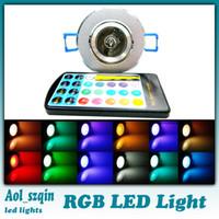 Spotlight led rgb remote bulb 5w - 3w w rgb led light bulb lamp led ceiling light with remote control LM AC90 V DHL