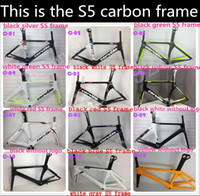 Road Bikes Carbon Fibre UD Cervelo Bicycle carbon frame S5 team VWD aero road carbon fiber frame+fork+aero seatpost+clamp+headset size is: 48 52 54 56 58cm