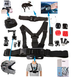 Wholesale Hot Item in Gopro Accessory Kit Helmet Strap Velcro Belt Chest Stra For Gopro Hero Camera Dazzne KT W0043A