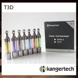 Kangertech T3D Clearomizer Kanger T3D Colorful Cartomizer Kanger T3D Atomizer With Changeable Rebuidable Dual Coils