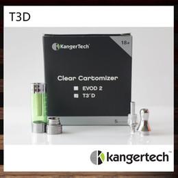 100% Original lKangertech T3D Clearomizer Kanger T3D Colorful Cartomizer Kanger T3D Atomizer With Changeable Rebuidable Dual Coils