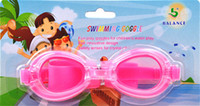 Wholesale children s swimming goggles The boys girls swimming glasses goggles jelly waterproof glasses for Children retail package