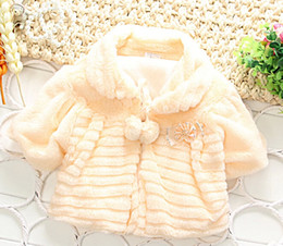 Wholesale Christma cute baby clothes Girls winter outwear baby girls coats thick Cloaks fur jackets plush hoodie jacket Princess Poncho Kids Clothing