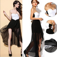 Wholesale New Style Womens Strapless Maxi Long Chiffon Ball Gown Evening Prom Party Dress
