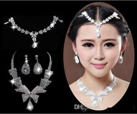Wholesale LMIn Stock Designer Sexy Custom Made Crystal African Jewelry Set Earrings Necklace Wedding Jewelry Set Bridal Accessories