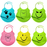 Baby Bibs 2014 New Design Silicone Bibs Burp Cloths Waterpro...
