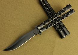Bolsas de bolsillos en venta-BM 43 negro mariposa táctica cuchillo de caza cuchillo plegable bolsillo BM43 camping senderismo al aire libre deporte cuchillo cuchillos con bolsa de nylon