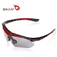 attached lens - New Arrival Baleaf Brand Cycling Sports Sunglasses Motorcycle Riding Glasses Black red Frame Four Lens Attach Top Quality
