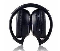 Wholesale Dual channel Fold Car IR Wireless Headphones Infrared Stereo Headset IR in Car Headrest DVD Player
