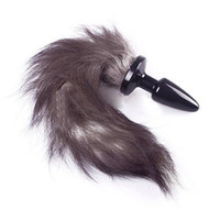 Wholesale Details about Personal Fox Tail Butt Plug Sexy Romance Sex Funny Adult Anal Massager Toy Gay