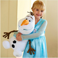 Wholesale In Stock Hot Sale Frozen Olaf Dolls Plush Toys Cartoon Toddler Baby Frozen Olaf Toys Kids Gift Dolls CM Different Size GX726