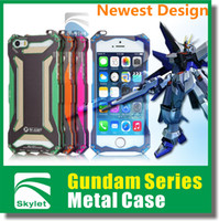 Wholesale For Iphone S Iphone S Luxury Heavy Duty Iphone case Gundam Series Style Metal Case Transformers Case