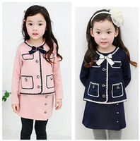 Wholesale 5sets New baby girls bow dress clothing sets pocket dress colors high quality A121