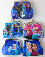 Wholesale New Arriving Cheap Frozen Designs Cartoon PVC Waterproof Coin Purse Key Holder Small Frozen Wallet Pocket Kids Gift HJ2