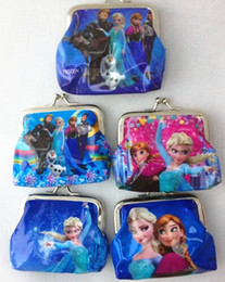 Wholesale Cheap Frozen Designs Cartoon PVC Waterproof Coin Purse Key Holder Small Frozen Wallet Pocket Kids Gift HJ2