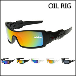 Wholesale Colorful Glasses For Men - Wholesale-407-OIL RIG Fashionable Glasses sport sunglasses men Goggles with Colorful Lens for Outdoor Cycling Climbing