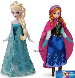Wholesale In Stock Hot Sale Frozen Elsa Anna Princess Dolls Baby Kids Toys Hands DO Girl Toys Children Dolls Size C set set GX727